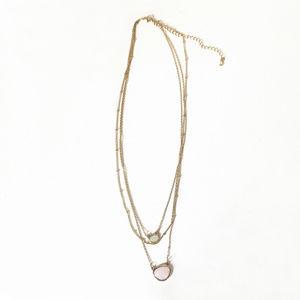 Madewell semi precious stone layer chain necklace